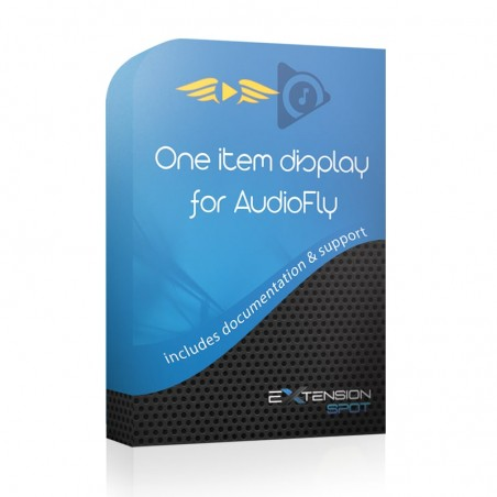 One item display for AudioFly
